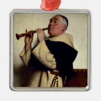 Monk Playing a Clarinet Christmas Ornament