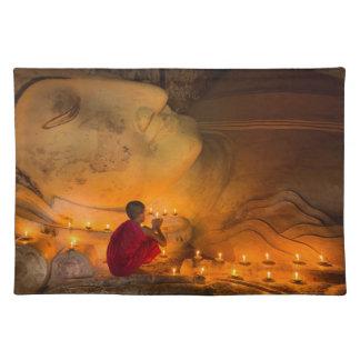 Monk Praying By A Buddha Placemat