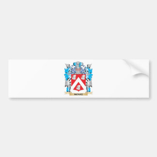 Monke Coat of Arms - Family Crest Bumper Stickers