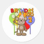 Monkey 2nd Birthday Round Sticker