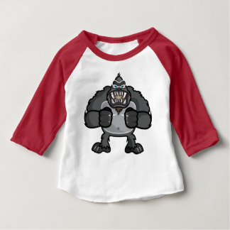 Monkey 3/4 sleeve baby tshirt