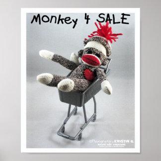 Monkey 4 Sale by kolohe Kristin Poster