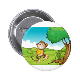 Monkey 6 Cm Round Badge