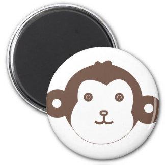 monkey 6 cm round magnet