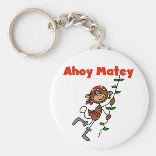 Monkey Ahoy Matey Tshirts and Gifts Keychains