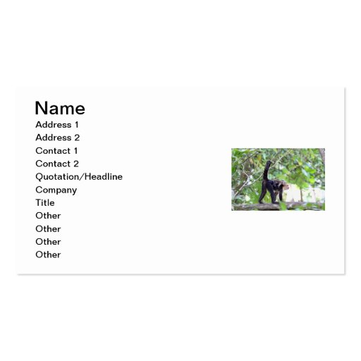 Monkey and Baby Business Card Templates