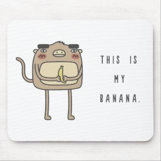 Monkey and Banana Mouse Pad