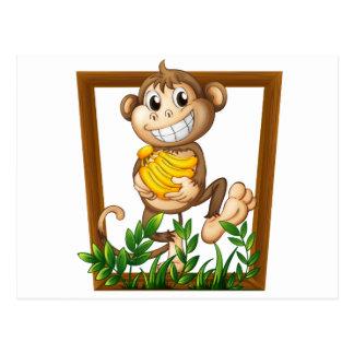 Monkey and banana postcard