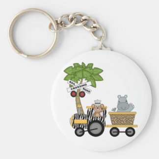 Monkey and Hippo Train Tshirts and Gifts Key Chains