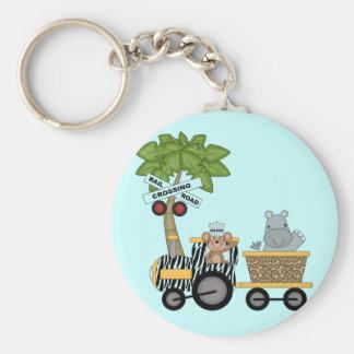 Monkey and Hippo Train Tshirts and Gifts Keychain