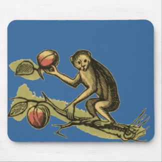 Monkey and His Coconuts Mouse Mat