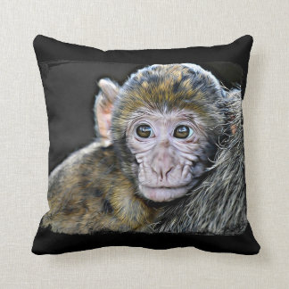Monkey and Jungle Animals Throw Pillow