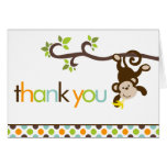 Monkey and Polka Dots Thank You Notes