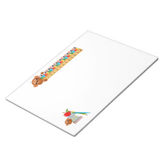 Monkey Apple Books and Pencils Notepads