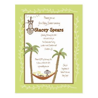 Monkey Around Baby Shower Invitations Post Card
