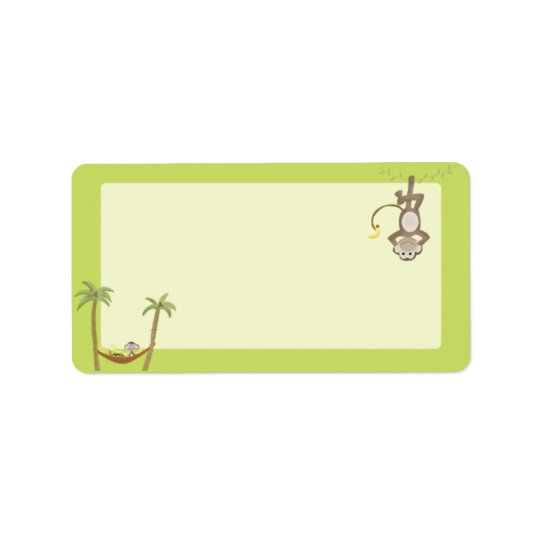 Monkey Around Print your Own Mailing Label Address Label