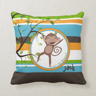 Monkey Around Square Personalized Pillow