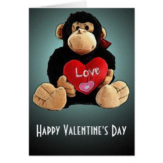 Monkey Around Valentine's Day Card