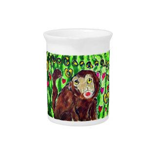 Monkey art pitcher