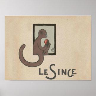 Monkey Art Print Poster