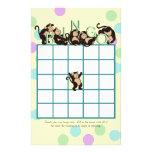 Monkey  Baby Shower Bingo Customized Stationery