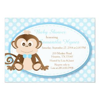 Monkey Baby Shower/Birthday Invitation-Boys 13 Cm X 18 Cm Invitation Card