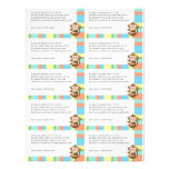 Monkey Baby Shower Diaper Raffle Custom Flyer