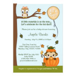 MONKEY Baby Shower Invitation Fall Pumpkin GIRL