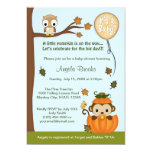 MONKEY Baby Shower Invitation Fall Pumpkin NEUTRAL