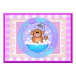 Monkey Baby Shower Personalized Invitation