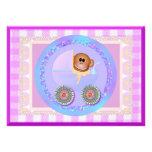 Monkey Baby Template Card Custom Announcement