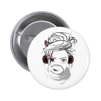 monkey. 6 cm round badge