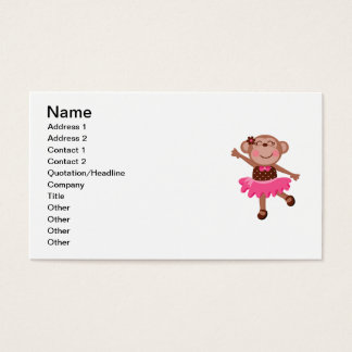 Monkey Ballerina Business Card