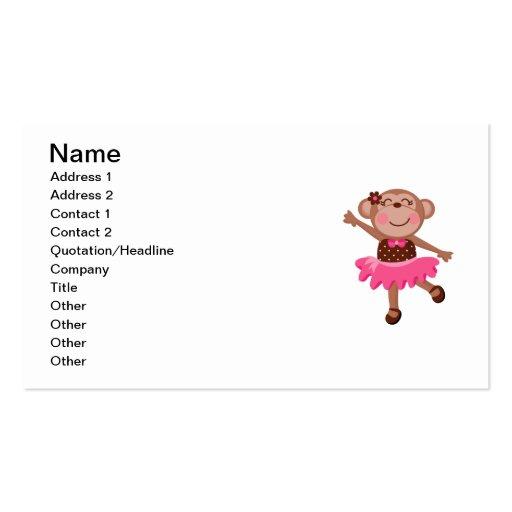 Monkey Ballerina Business Card