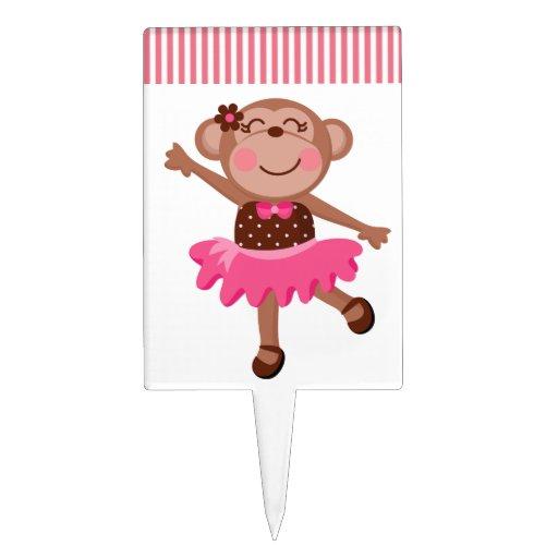 Monkey Ballerina Cake Pick