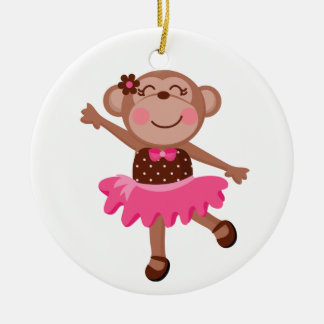 Monkey Ballerina Christmas Ornament