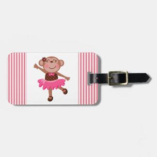 Monkey Ballerina Luggage Tag