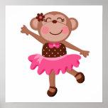 Monkey Ballerina Poster