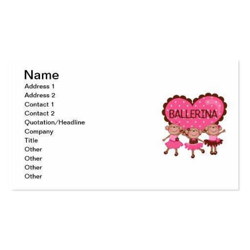 Monkey Ballet Business Card Template