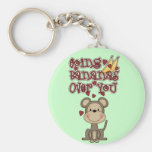 Monkey Bananas Over You Tshirts and Gifts Basic Round Button Key Ring