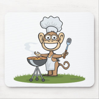 Monkey Barbecue Mousepads