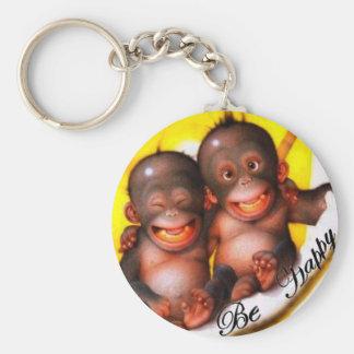 Monkey Be Happy Key Ring
