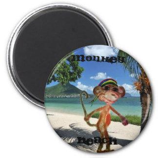 Monkey Beach Button Refrigerator Magnet