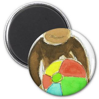 Monkey Beachball 6 Cm Round Magnet