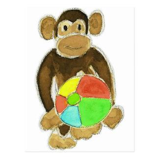 Monkey Beachball Postcard