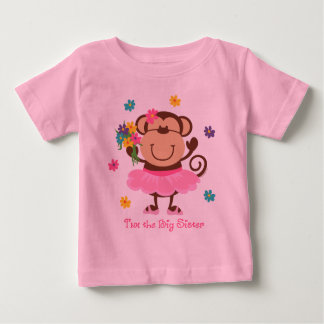 Monkey Big Sister Baby T-Shirt