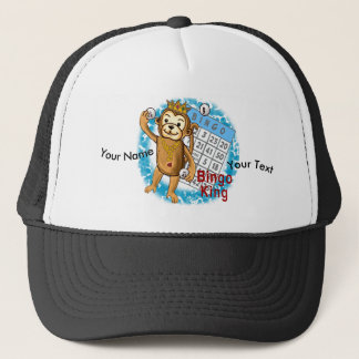 Monkey Bingo King custom name Trucker Hat