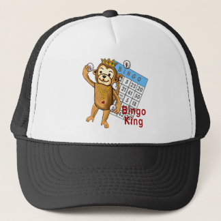 Monkey Bingo King Trucker Hat
