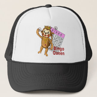 Monkey Bingo Queen Trucker Hat