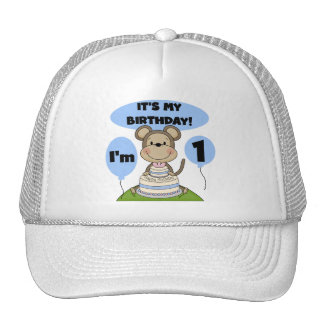 Monkey Birthday Boy 1st Trucker Hat